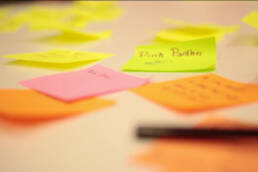 Interaction design project post it notes