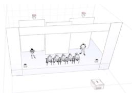 3D mockup of a room