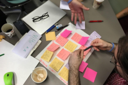Post it notes with text on them
